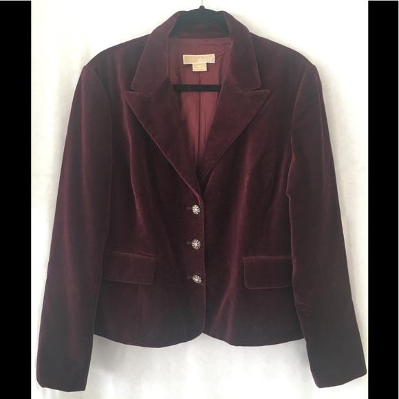 Michael Kors Jackets & Blazers - Michael Kors Corduroy Burgundy Blazer